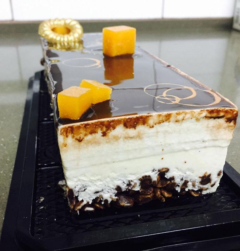 עוגת מוסים מלבנית