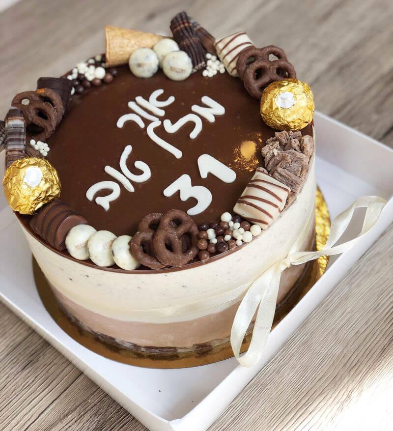 עוגת מוסים מעוצבת שוקולד ואוריאו
