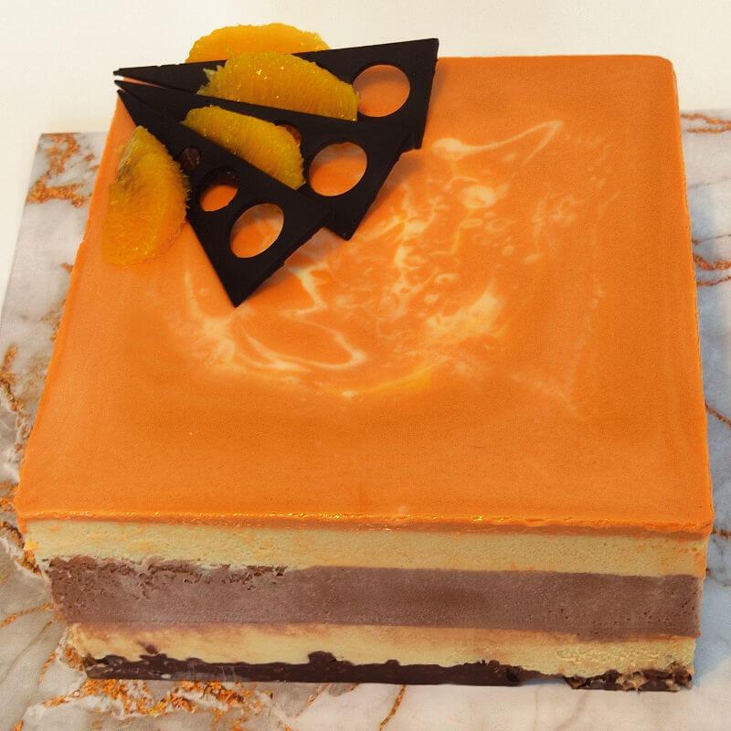 עוגת מוסים של שוקולד תפוז