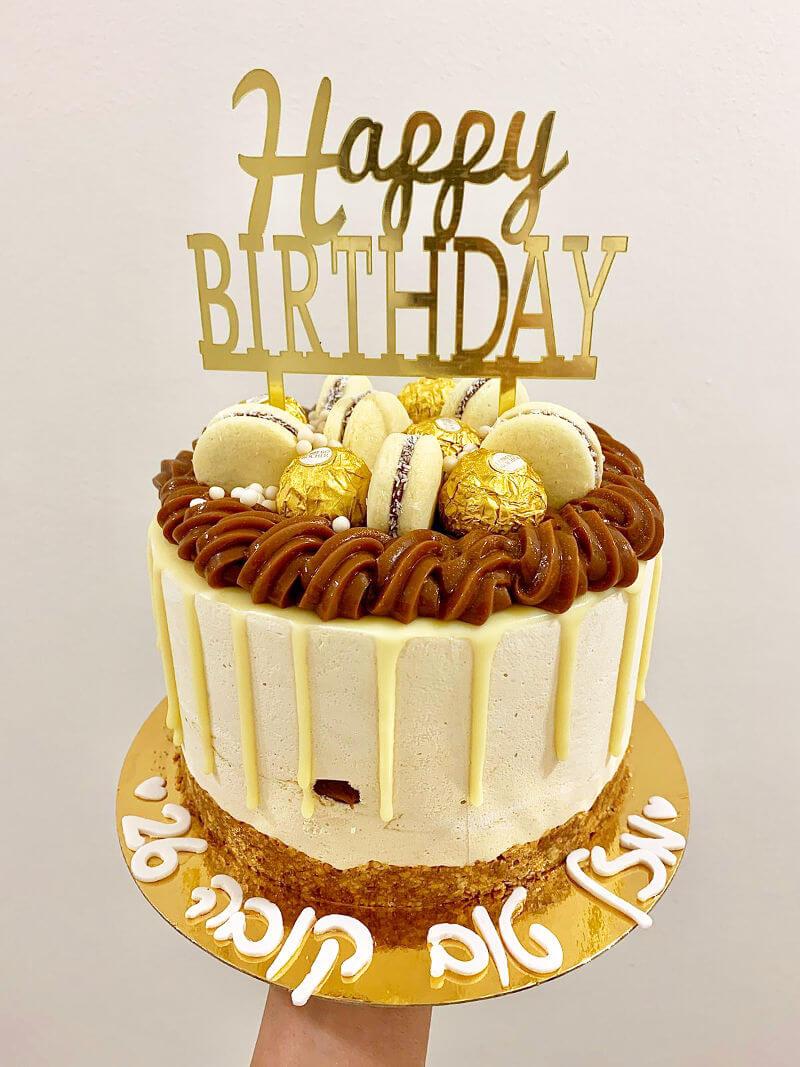 עוגת מוס אלפחורס מעוצבת ליום הולדת