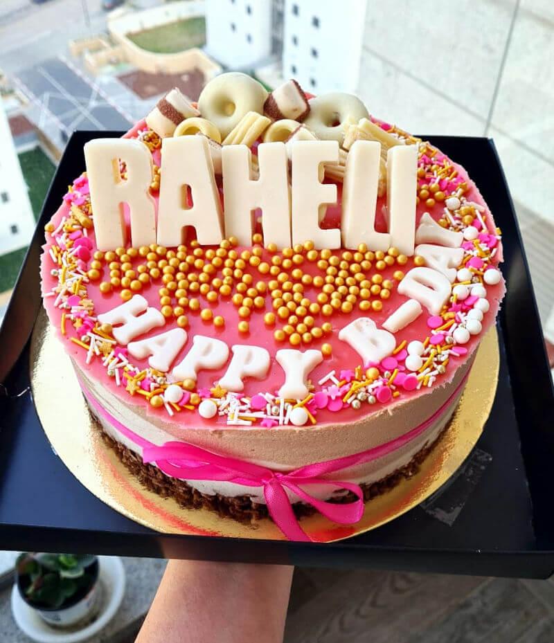 עוגת מוס וממתקים ליום הולדת