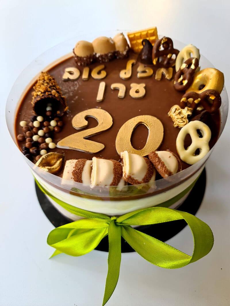 עוגת מוס ושוקולדים ליום הולדת