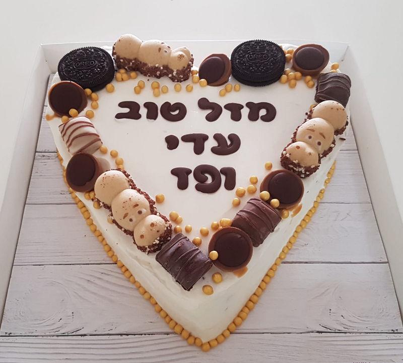 עוגת מוס לב