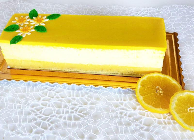 עוגת מוס לימון