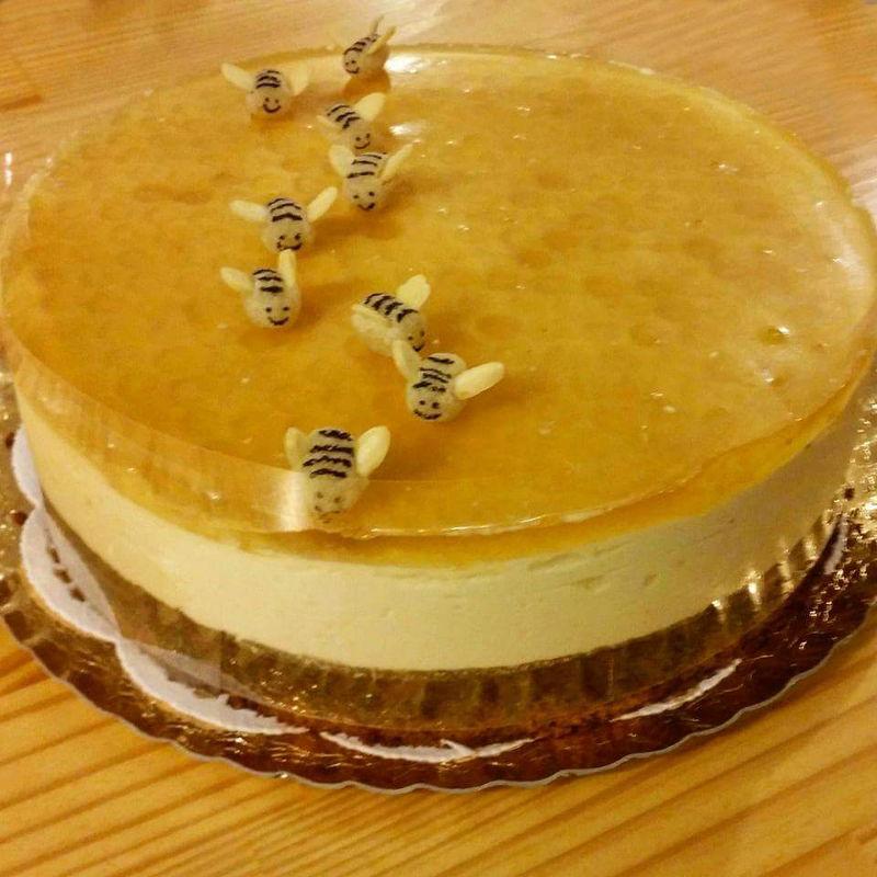 עוגת מוס וכוורת לראש השנה