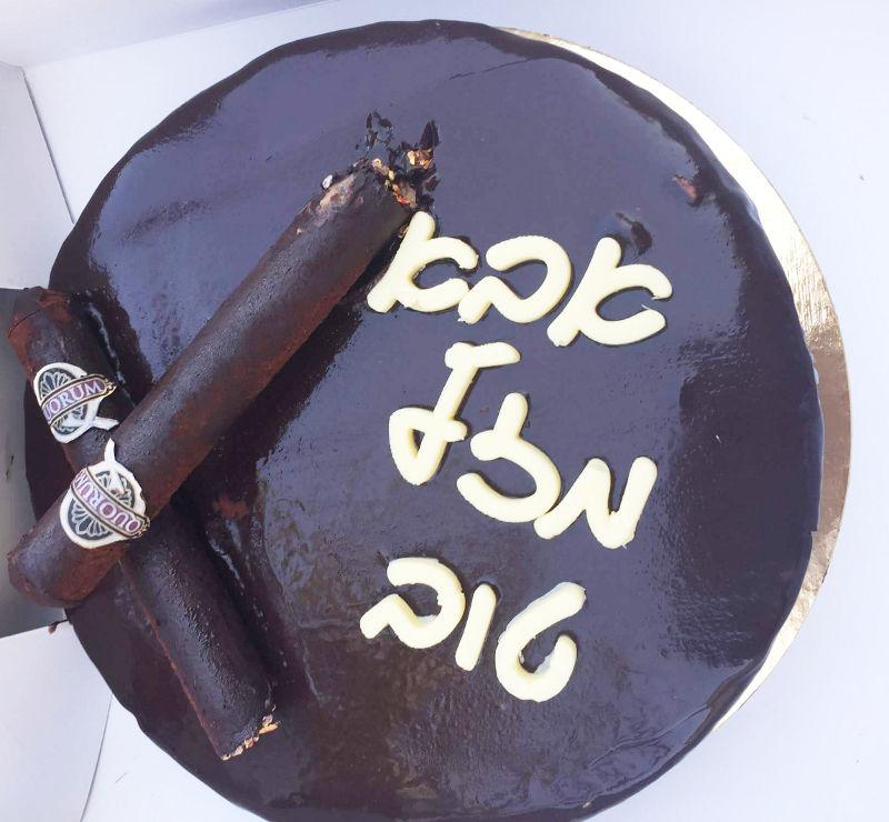 עוגת מוס נוגט שוקולד ובראוניז לאבא