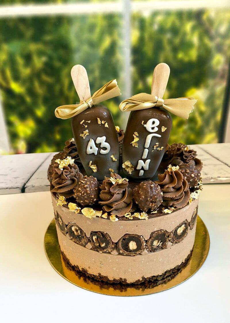 עוגת מוס פרלינה ליום הולדת