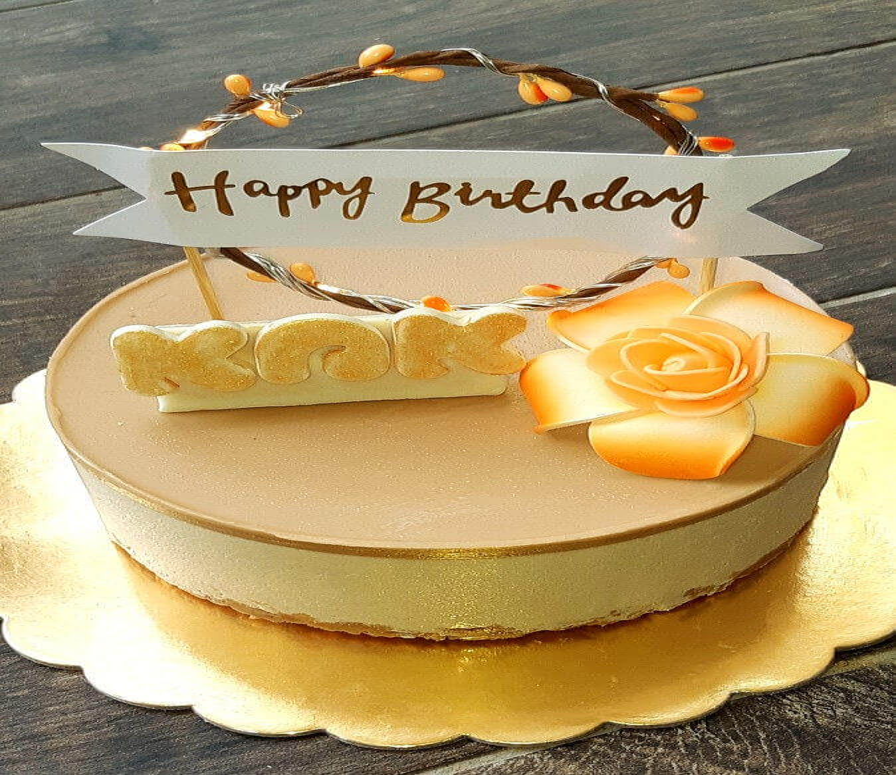 עוגת מוס קינדר יום הולדת לאמא