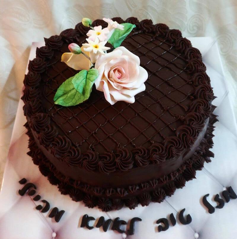 עוגת מוס שוקולד ליום הולדת