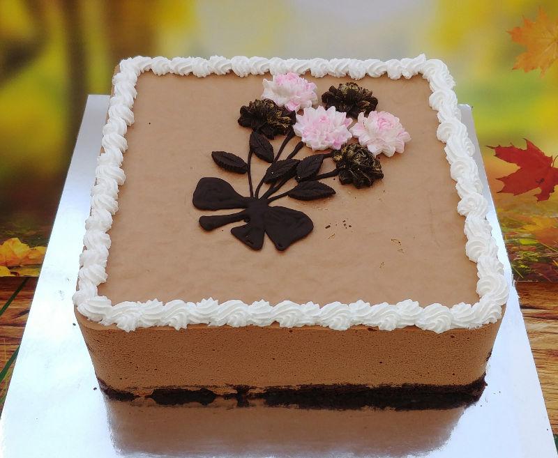 עוגת מוס שוקולד מלבנית