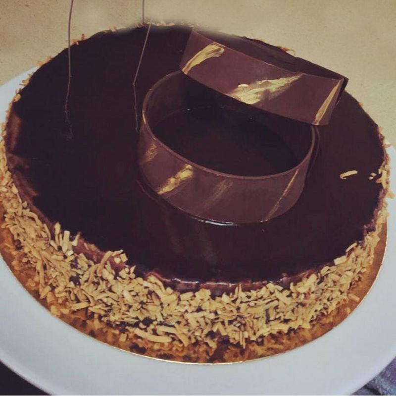 עוגת מוס שוקולד מריר