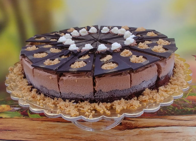 עוגת מוס שוקולד עגולה