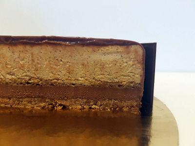 עוגת מוס שוקולד וקפה חתך
