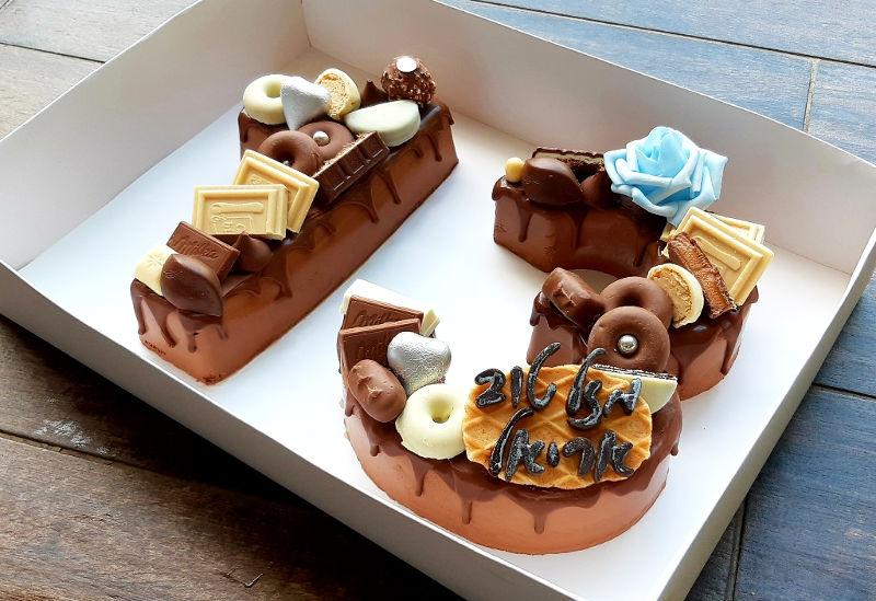 עוגת מוס מספרים 13 לבר מצווה