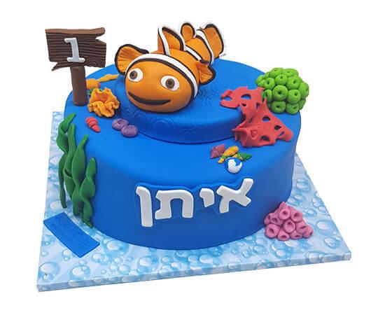 עוגת מוצאים את נמו לגיל שנה