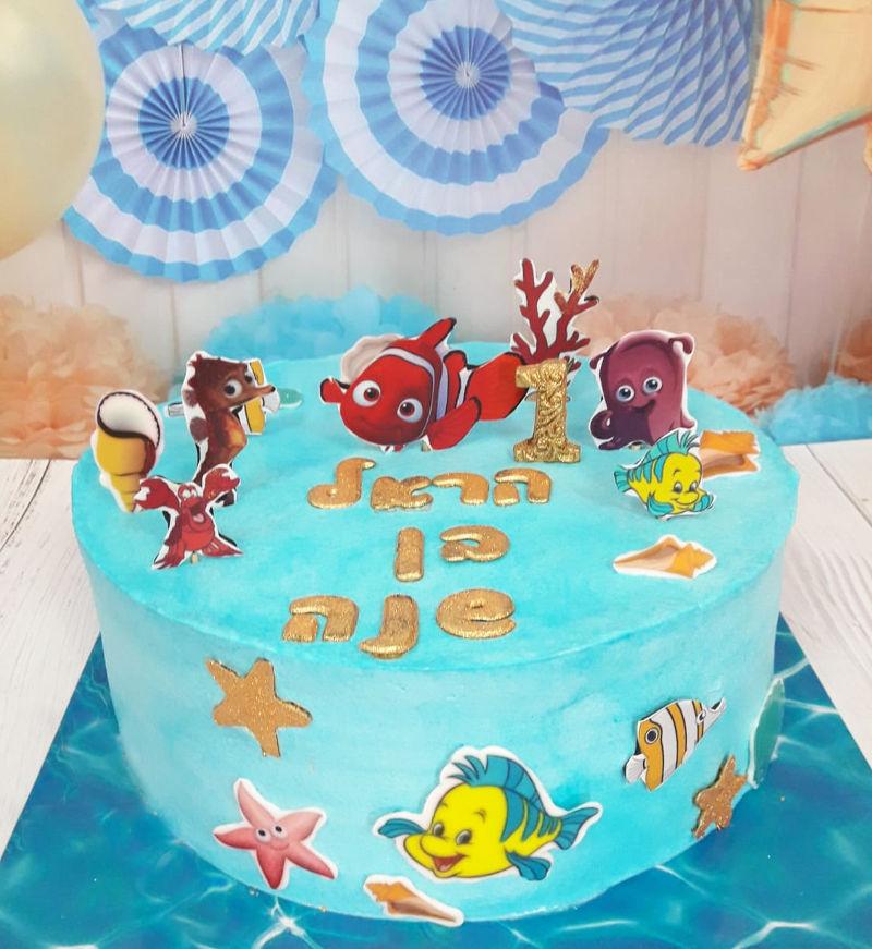 עוגת מוצאים את נמו