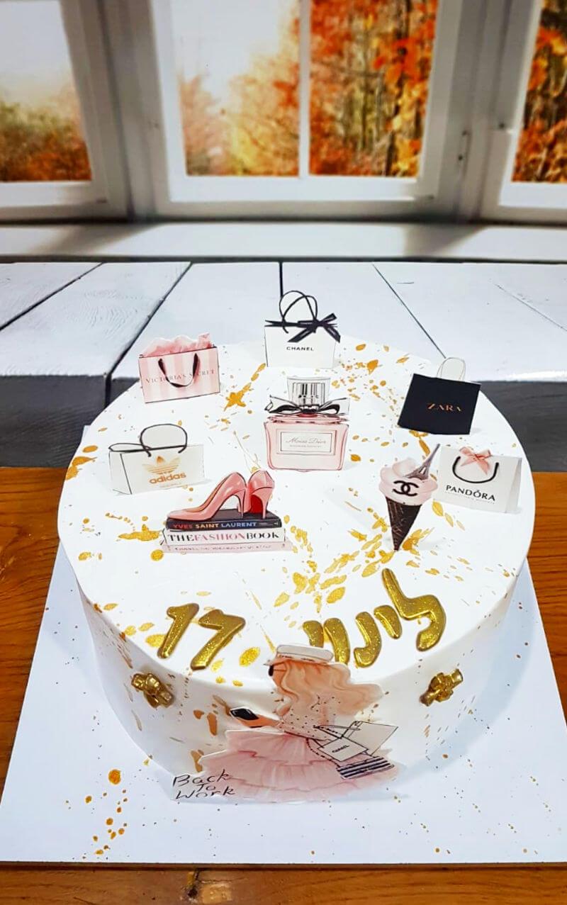 עוגת מותגים מעוצבת לאשה
