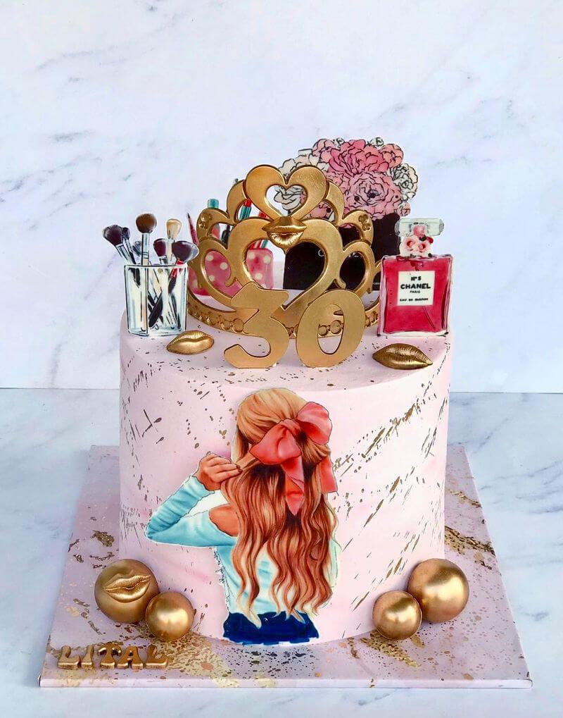 עוגת מותגים לאשה