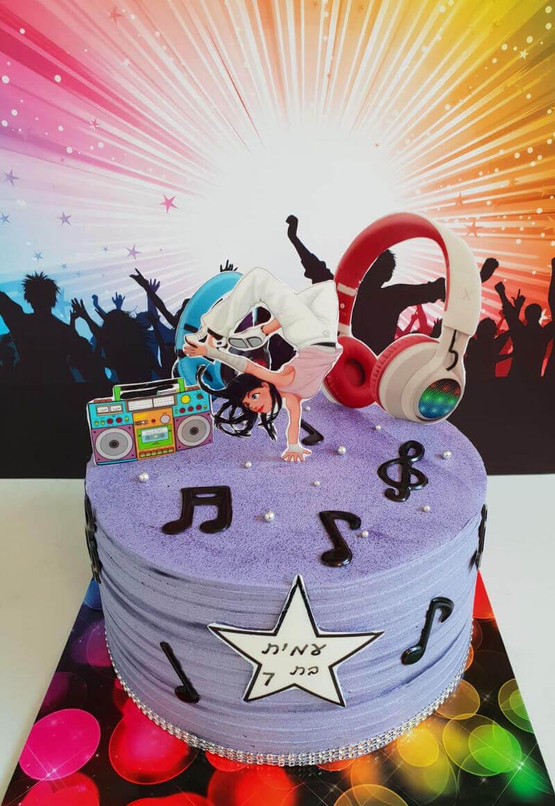 עוגת מיוזיקלי מעוצבת