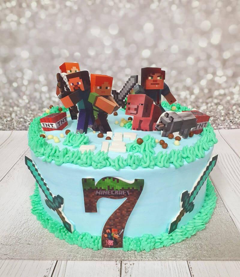 עוגת מיינקראפט