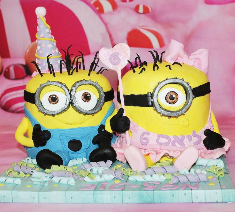 עוגת יום הולדת מיניונים