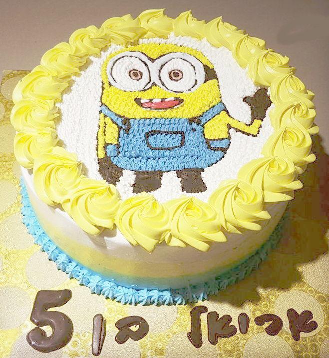 עוגת מיניונים ליום הולדת