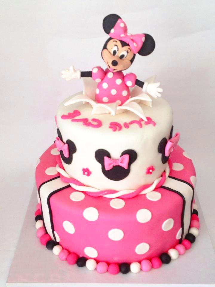 עוגת מיני מאוס קומות מבצק סוכר