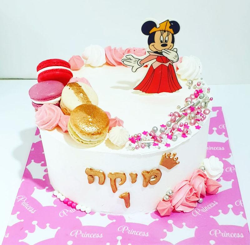 עוגת מיני מאוס וממתקים לגיל שנה