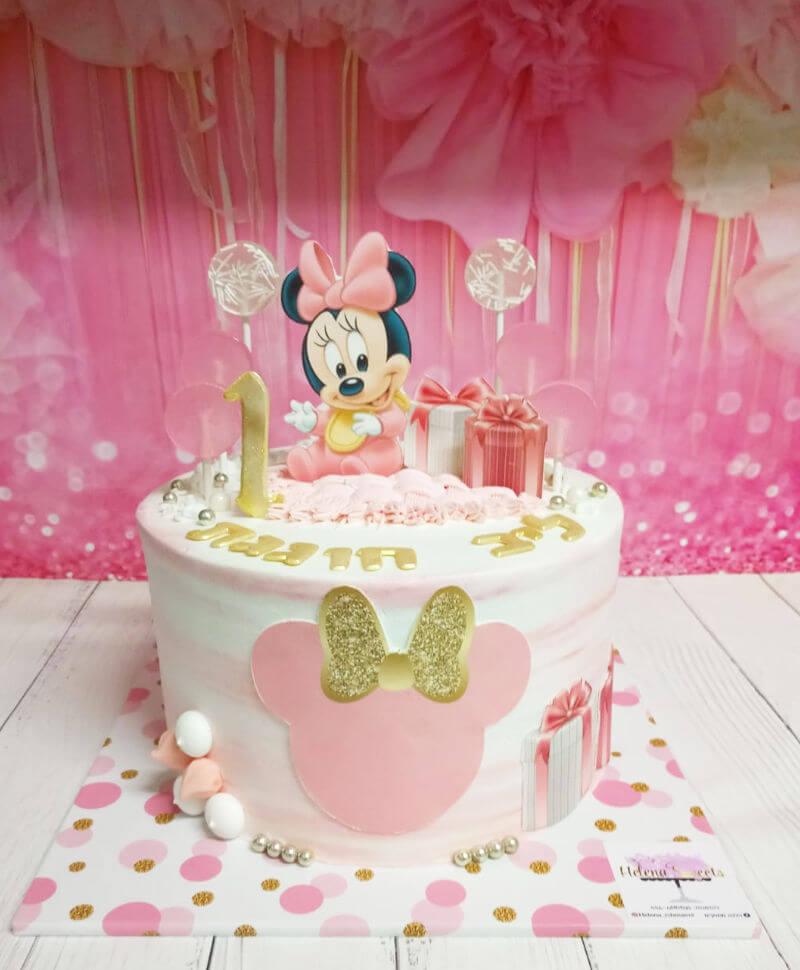 עוגת מיני מאוס מעוצבת לגיל שנה
