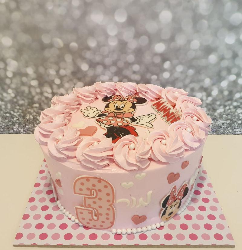 עוגת יום הולדת מיני מאוס זילוף