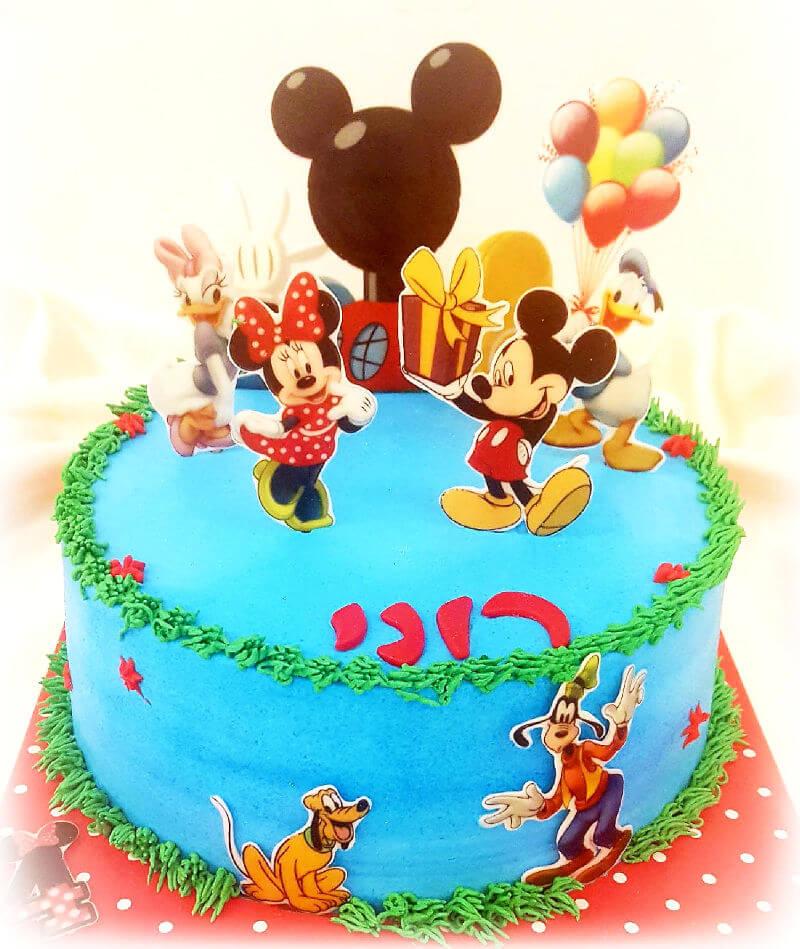 עוגת מיקי ומיני מאוס