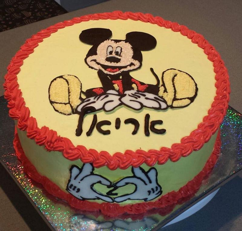 עוגת מיקי מאוס ליום הולדת