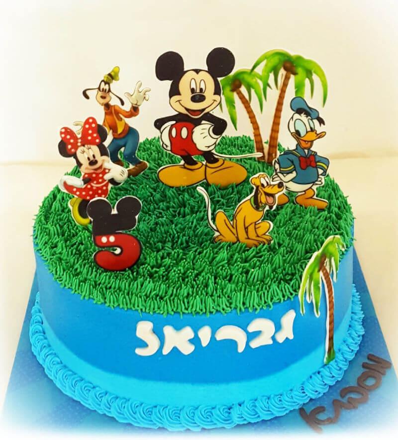 עוגת זילוף מיקי מאוס וחברים