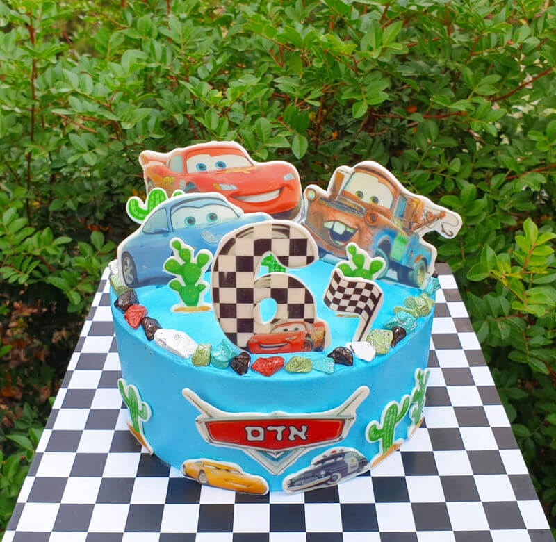 עוגת מכוניות ספידי
