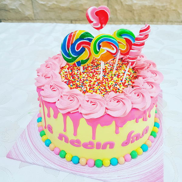 עוגה ליום הולדת ממתקים