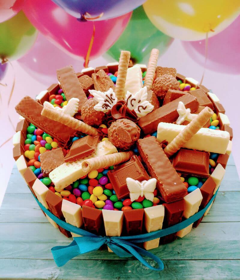 עוגת יום הולדת מעוצבת ממתקים