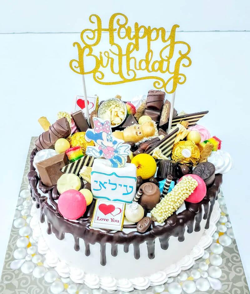 עוגת טפטופים וממתקים מיני מאוס