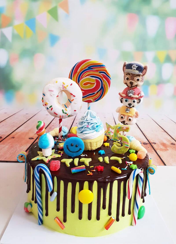 עוגת ממתקים מפרץ ההרפתקאות