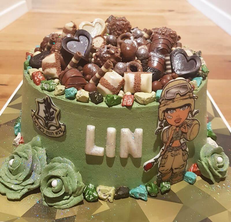 עוגת מסיבת גיוס