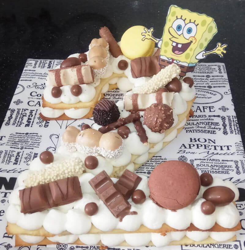 עוגת מספרים בוב ספוג
