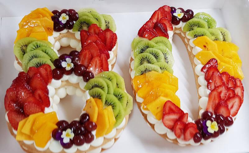 עוגת מספרים ליום הולדת 80