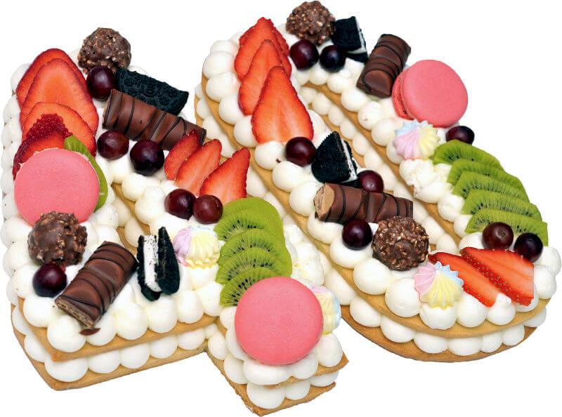 עוגת מספרים ופירות 40