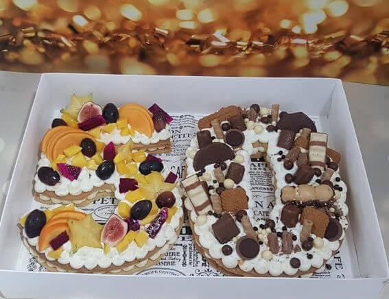 עוגת מספרים ליום הולדת 50