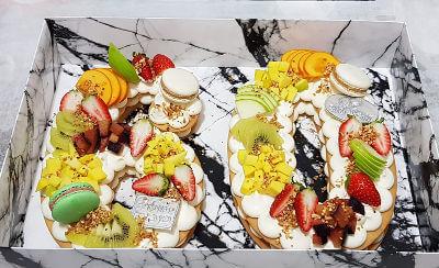 עוגת מספרים ופירות 18
