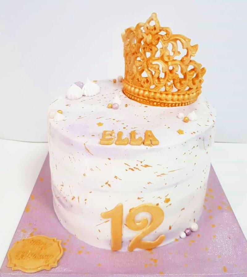 עוגת מספרים ושוקולדים לבת מצווה