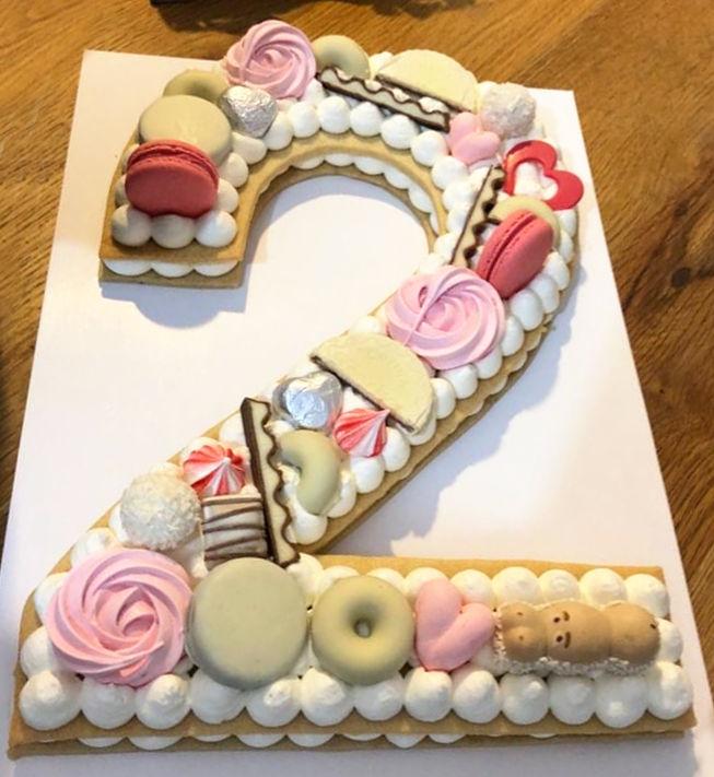עוגת מספרים ושוקולדים