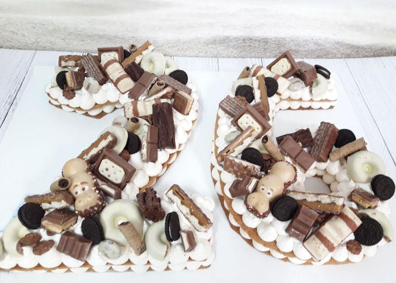 עוגת המספרים ושוקולדים לגיל 26