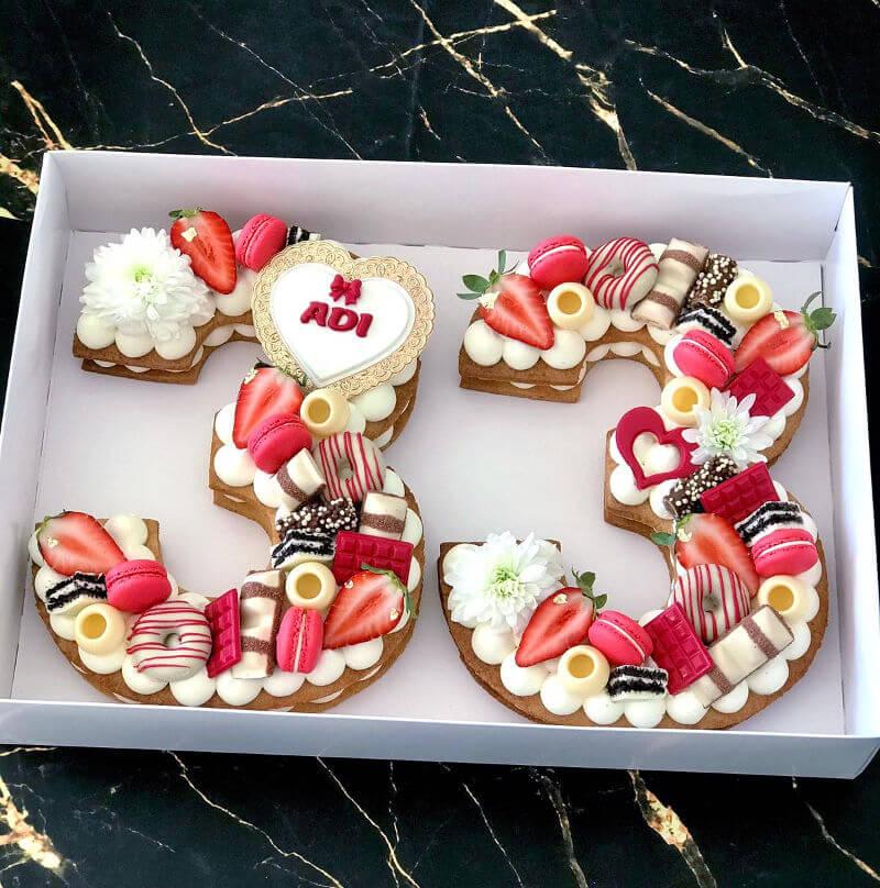 עוגת מספרים לאשה