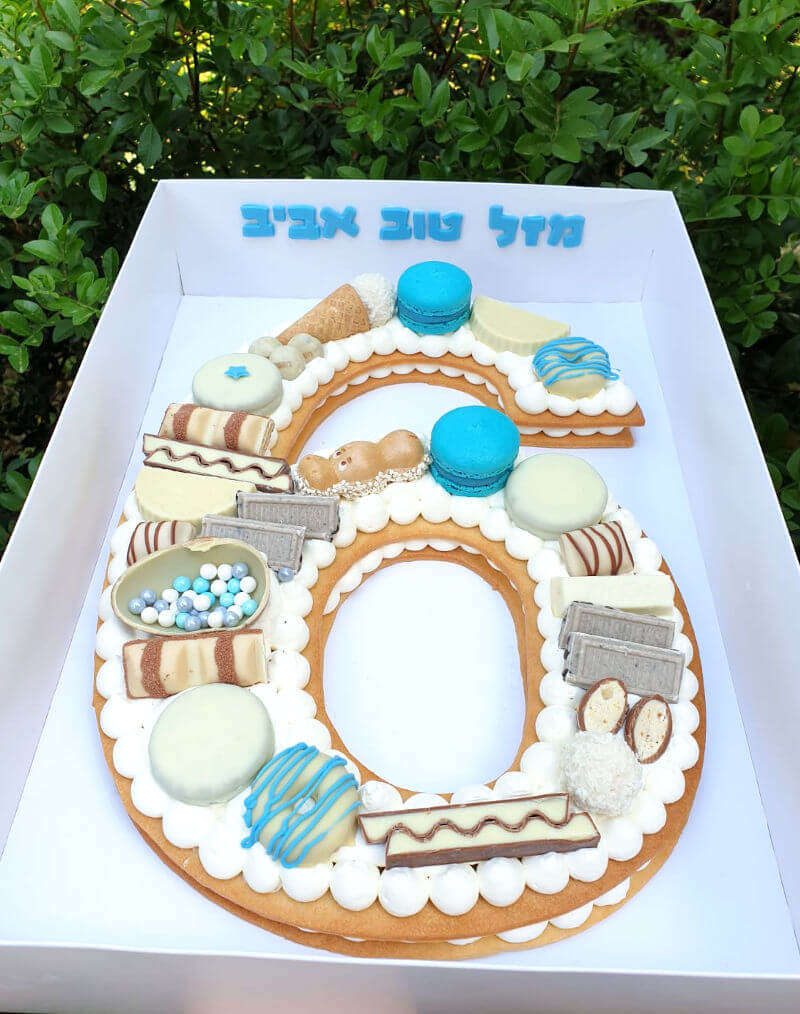 עוגת מספרים לבן