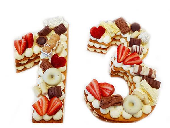 עוגת מספרים 13 לבר מצווה